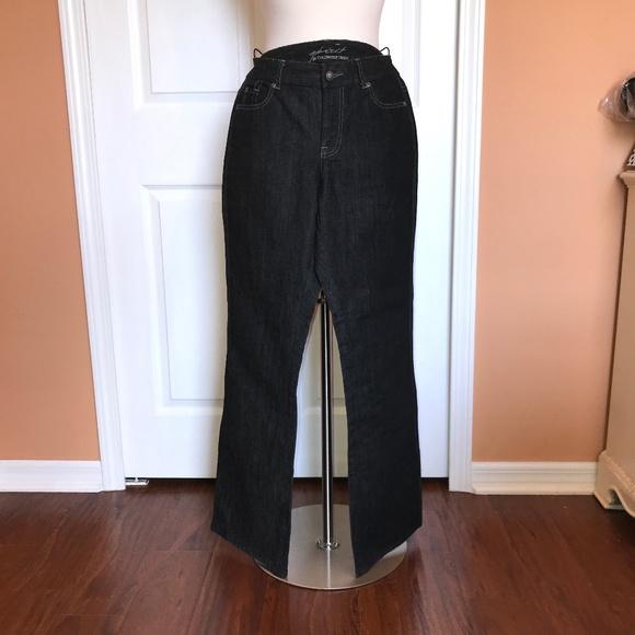NWT Coldwater Creek black denim Spirit Jeans 8